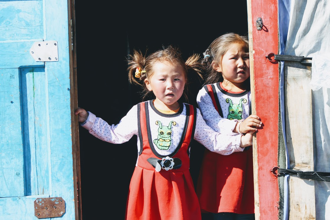 A Nomadic Mongolian twin sister in Northern Mongolia, visit to Mongolian Ger, Yurt, Nomadic Hospitality